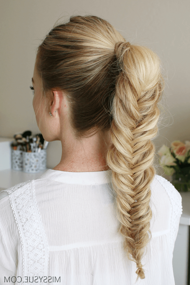 3 New Back To School Hairstyles | Hair Tutorials With Regard To Best And Newest Ponytail Fishtail Braided Hairstyles (View 2 of 25)