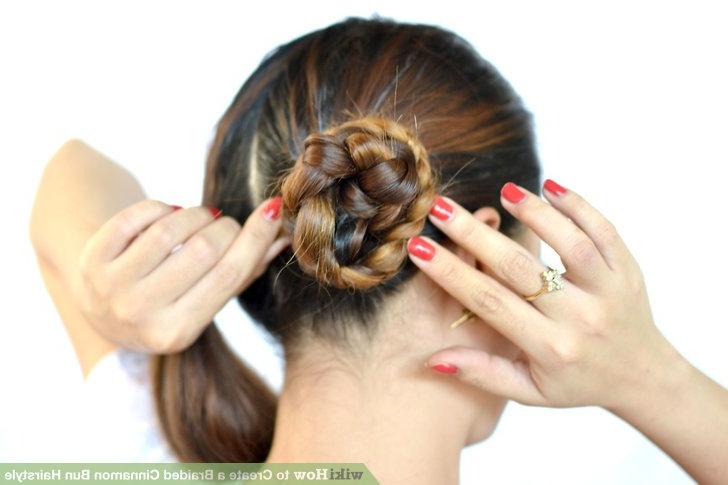 3 Ways To Create A Braided Cinnamon Bun Hairstyle – Wikihow For 2020 Cinnamon Bun Braided Hairstyles (View 6 of 25)