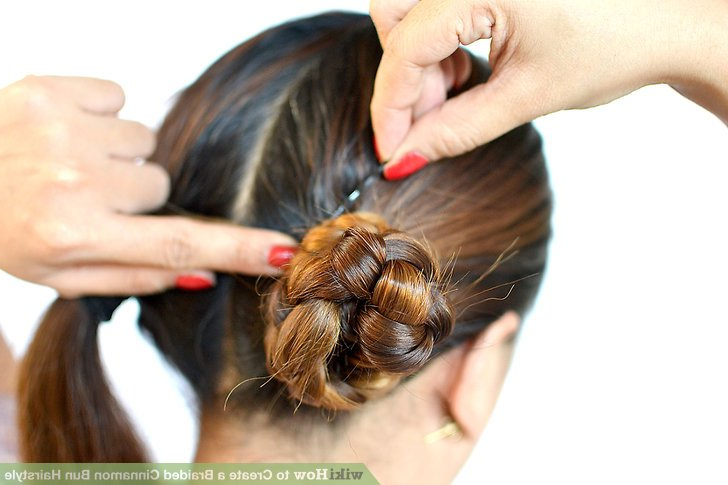 3 Ways To Create A Braided Cinnamon Bun Hairstyle – Wikihow For Most Recent Cinnamon Bun Braided Hairstyles (View 5 of 25)