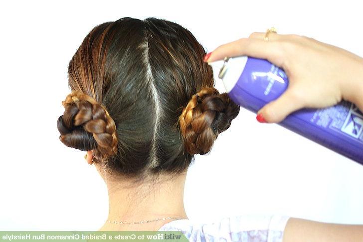 3 Ways To Create A Braided Cinnamon Bun Hairstyle – Wikihow In Recent Cinnamon Bun Braided Hairstyles (View 4 of 25)