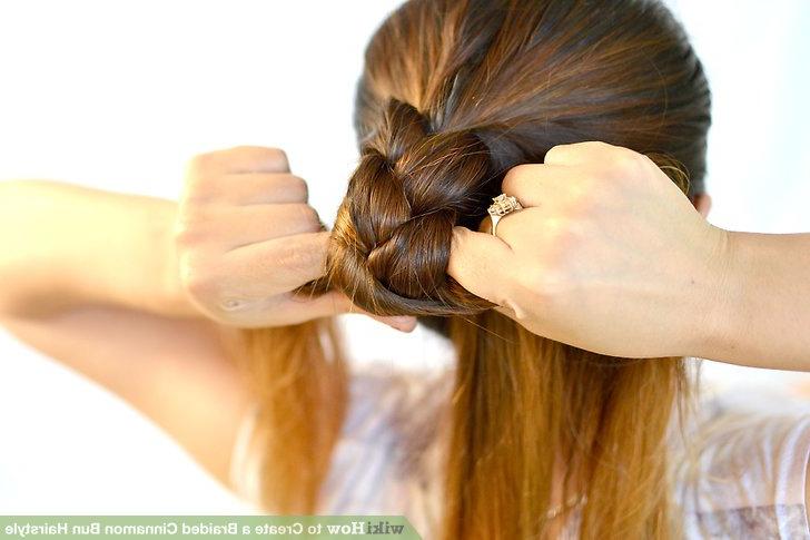 3 Ways To Create A Braided Cinnamon Bun Hairstyle – Wikihow Inside Most Popular Cinnamon Bun Braided Hairstyles (View 19 of 25)
