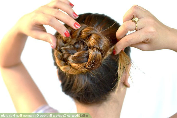 3 Ways To Create A Braided Cinnamon Bun Hairstyle – Wikihow Pertaining To Best And Newest Cinnamon Bun Braided Hairstyles (View 15 of 25)