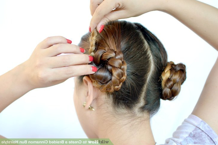 3 Ways To Create A Braided Cinnamon Bun Hairstyle – Wikihow Regarding Most Popular Cinnamon Bun Braided Hairstyles (View 13 of 25)