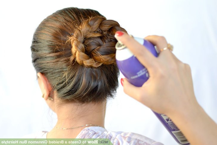 3 Ways To Create A Braided Cinnamon Bun Hairstyle – Wikihow Within Most Popular Cinnamon Bun Braided Hairstyles (View 7 of 25)