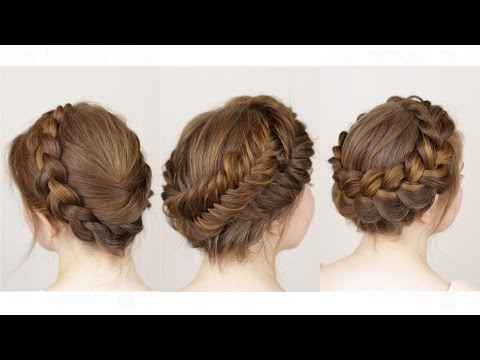 3 Ways To Do A Crown Braid – Youtube Inside Most Current Angular Crown Braided Hairstyles (View 12 of 25)