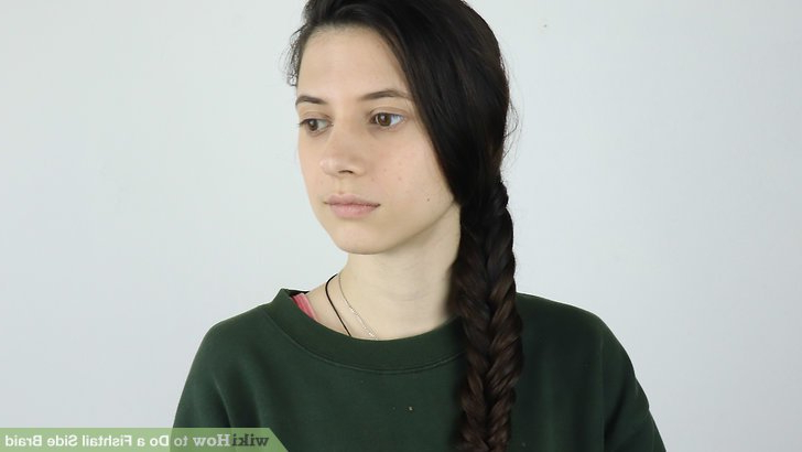 3 Ways To Do A Fishtail Side Braid – Wikihow With Latest Fishtail Side Braided Hairstyles (View 19 of 25)