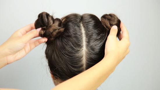 3 Ways To Do Space Buns – Wikihow Within Braided Space Buns Updo Hairstyles (View 24 of 25)