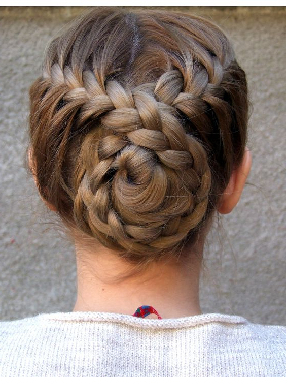 30 Amazing Braided Hairstyles For Medium & Long Hair Intended For Most Popular Braided Chignon Hairstyles (View 18 of 25)