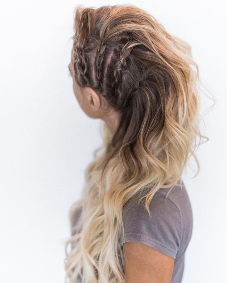 30 Amazing Braided Hairstyles For Medium & Long Hair With Regard To Most Up To Date Faux Hawk Braided Hairstyles (View 2 of 25)
