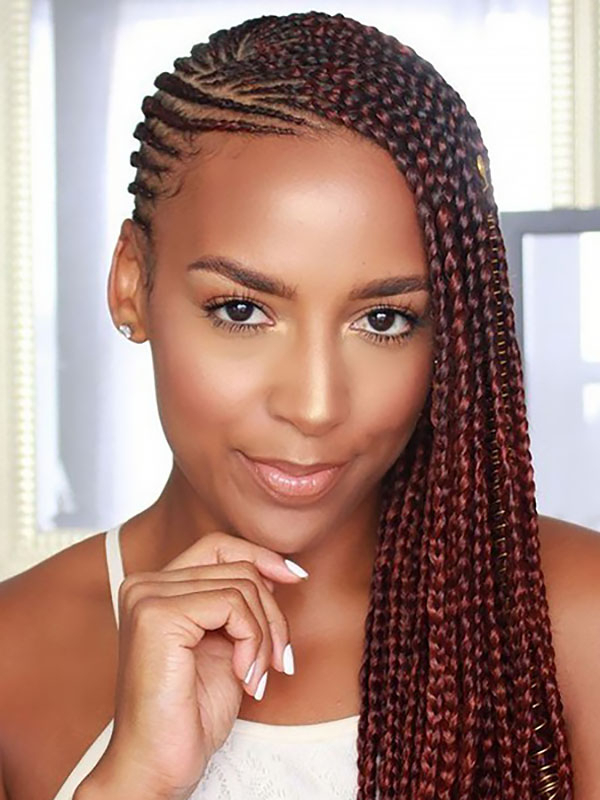 30 Best Braided Hairstyles For Women – The Trend Spotter Inside Newest Micro Braids In Side Fishtail Braid (View 11 of 25)