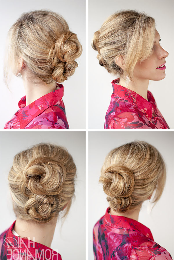 30 Buns In 30 Days – Day 14 – Double Braid Buns – Hair Romance Within Stacked Buns Updo Hairstyles (View 7 of 25)