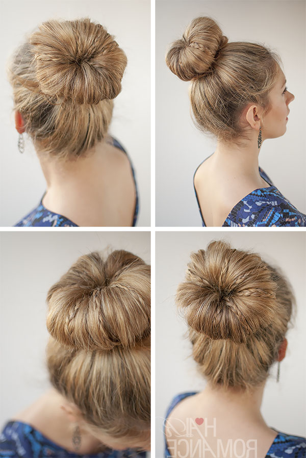 30 Buns In 30 Days – Day 30 – Mini Braids In A Bun – Hair Inside Mini Braided Buns Updo Hairstyles (View 23 of 25)