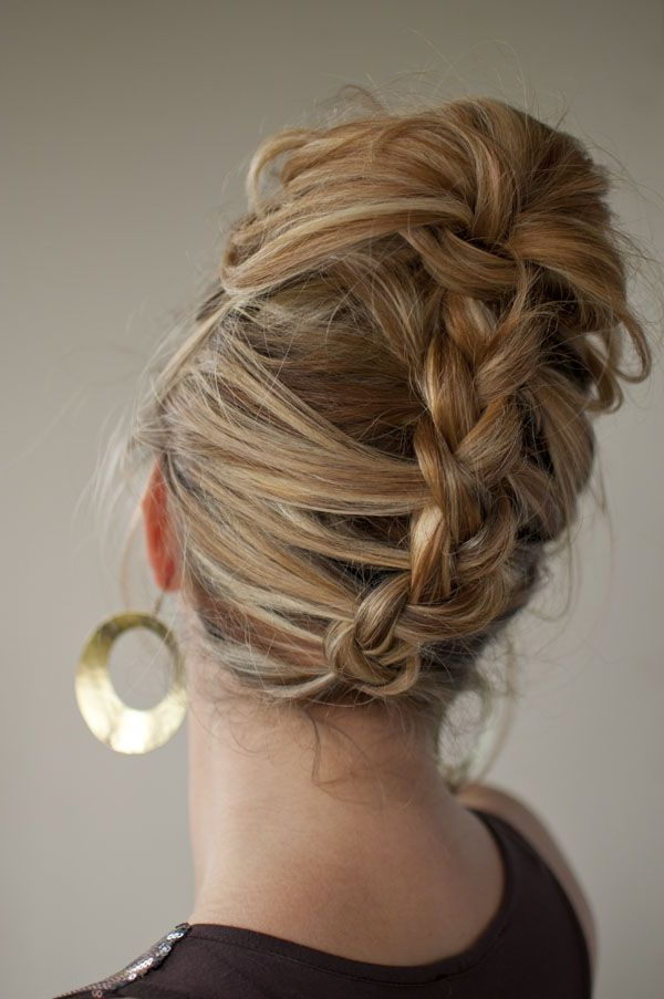 30 Days Of Twist & Pin Hairstyles – Day 13 | Hair | Hair For Reverse French Braid Bun Updo Hairstyles (View 15 of 25)