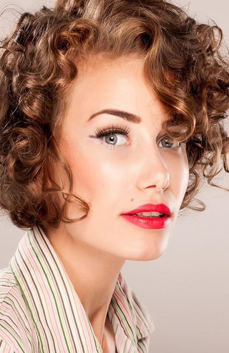 30 Easy Hairstyles For Short Curly Hair – The Trend Spotter Intended For Retro Curls Hairstyles (View 6 of 25)