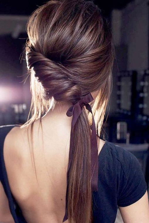 30 Romantic Hairstyles Ideas To Try This Year 2018   Hair Inside Romantic Ponytail Updo Hairstyles (View 6 of 25)