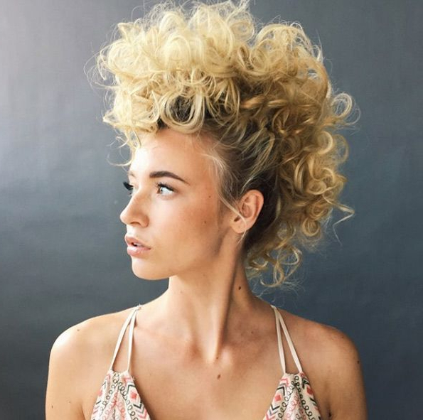 30 Stunning And Stylish Mohawk Updos   Modern Whitney   Hair With Curly Mohawk Updo Hairstyles (View 16 of 25)