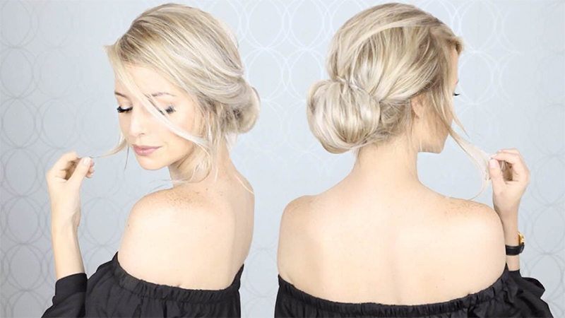 30 Stunning Prom Hairstyles For 2019 – The Trend Spotter For Stacked Mini Buns Hairstyles (View 15 of 25)