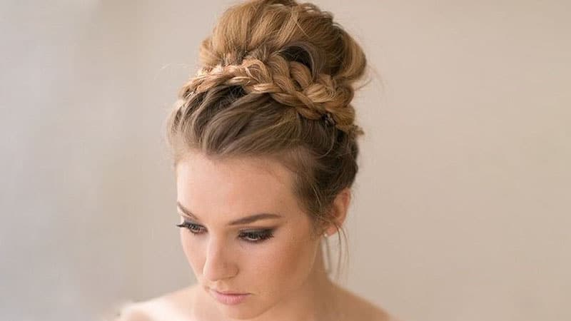 30 Stunning Prom Hairstyles For 2019 – The Trend Spotter Intended For High Bun Hairstyles With Braid (View 7 of 25)