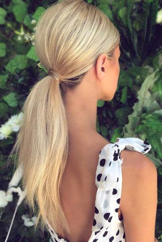 30 Unique Low Ponytail Ideas For Simple But Attractive Looks For Low Ponytail Hairstyles (View 17 of 25)