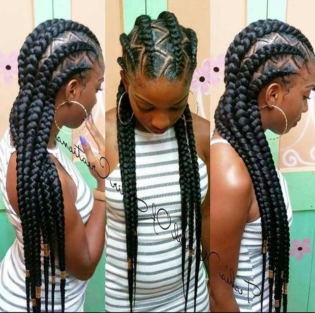 31 Cornrow Styles To Copy For Summer | Page 3 Of 3 | Stayglam Intended For Most Current Thick Cornrows Braided Hairstyles (View 23 of 25)