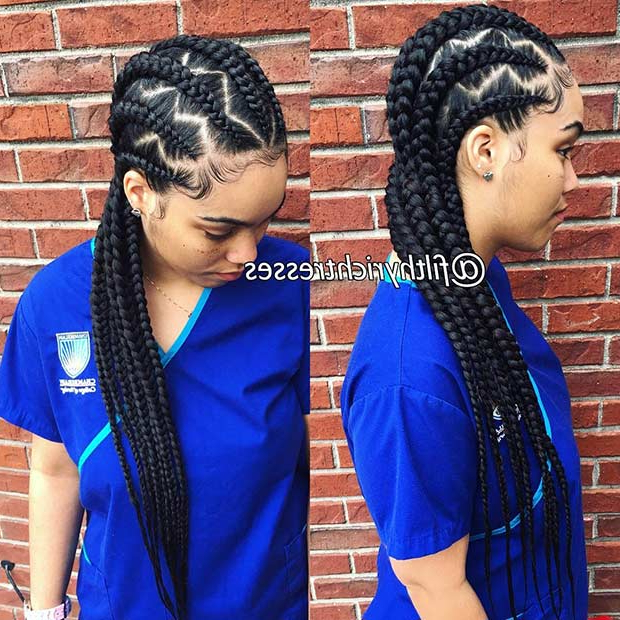 31 Cornrow Styles To Copy For Summer | Stayglam In Most Popular Straight Backs Braided Hairstyles (View 13 of 25)