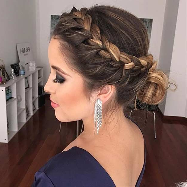31 Most Beautiful Updos For Prom | Stayglam For Low Braided Bun Updo Hairstyles (View 7 of 25)