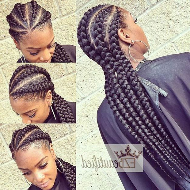 31 Stylish Ways To Rock Cornrows | Braid Hair | African With Newest Thick Cornrows Braided Hairstyles (View 3 of 25)