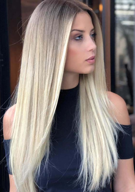 32 Gorgeous Long Sleek Straight Blonde Hairstyles For 2018 Within Straight And Sleek Hairstyles (View 13 of 25)