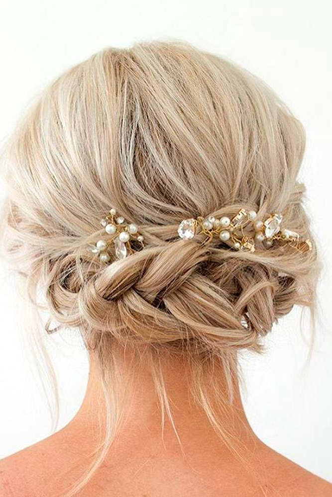 33 Amazing Prom Hairstyles For Short Hair 2019 | Hair For Pearl Bun Updo Hairstyles (View 5 of 25)