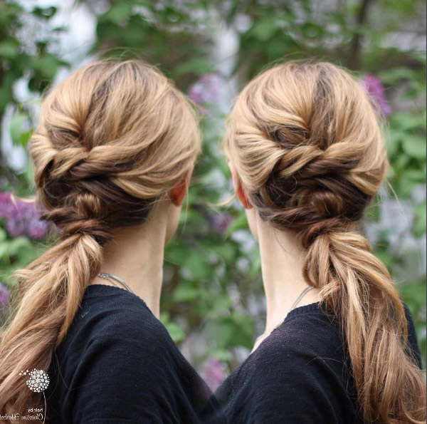 33 Upgraded Ponytail Hairstyles That Take Your Updo To The Pertaining To Romantic Ponytail Updo Hairstyles (View 12 of 25)