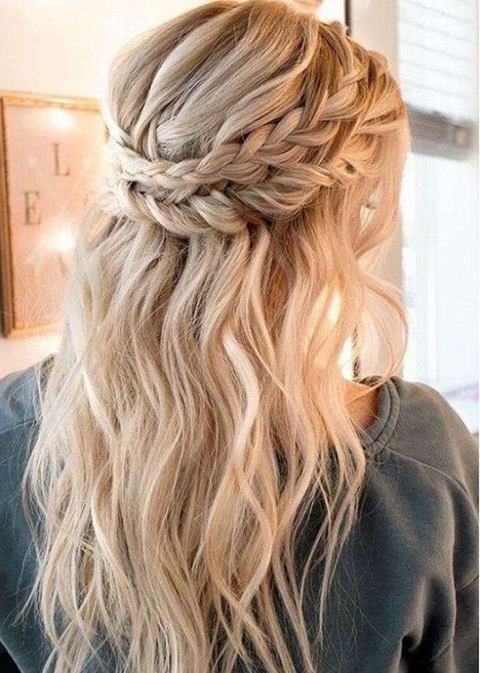 34 Beautiful Braided Wedding Hairstyles For The Modern Bride Within Braided Half Up Hairstyles (View 19 of 25)
