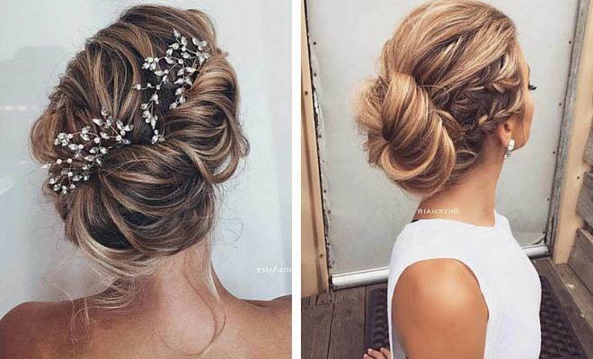 35 Gorgeous Updos For Bridesmaids | Stayglam With Teased Fishtail Bun Updo Hairstyles (View 17 of 25)