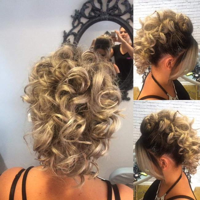 35 Great Curly Mohawk Hairstyles – Cuteness And Boldness Throughout Curly Mohawk Updo Hairstyles (View 10 of 25)