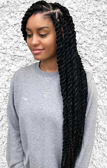 36 Latest Marley Twist Braids Hairstyles 2019 For Black Intended For Twists And Braid Hairstyles (View 11 of 25)