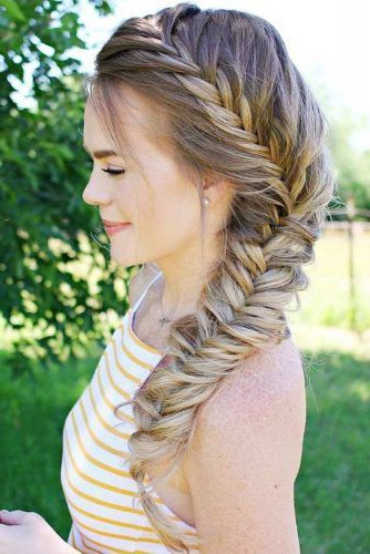 36 Types Of French Braid To Experiment With | French Braid Within Most Popular Asymmetrical French Braided Hairstyles (View 11 of 25)