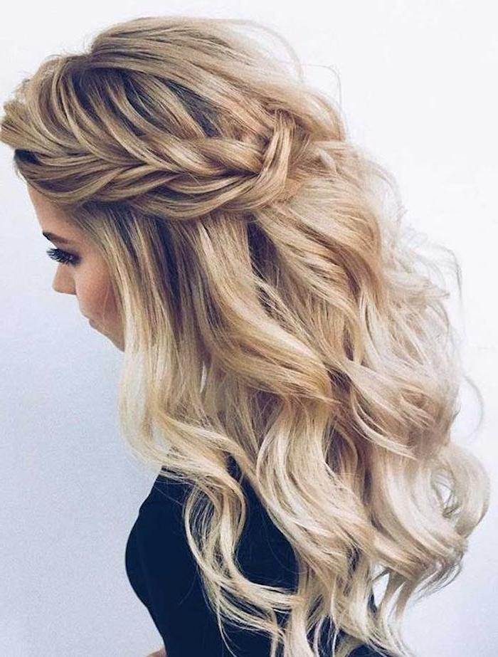 37 Beautiful Half Up Half Down Hairstyles For The Modern Within Braided Half Up Hairstyles (View 8 of 25)