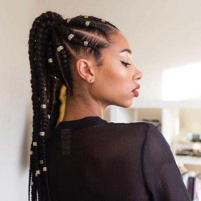 37 Cool Ponytail Hairstyles To Try In 2019 | Glamour With Regard To Recent High Ponytail Braided Hairstyles (View 7 of 25)