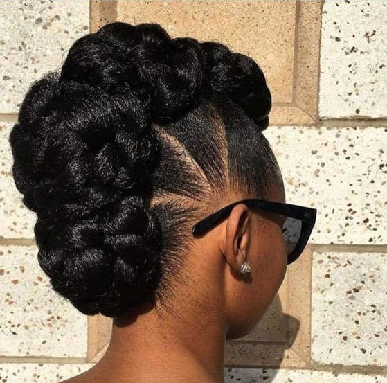 37 Gorgeous Natural Hairstyles For Black Women (Quick, Cute In Simple Pony Updo Hairstyles With A Twist (View 22 of 25)