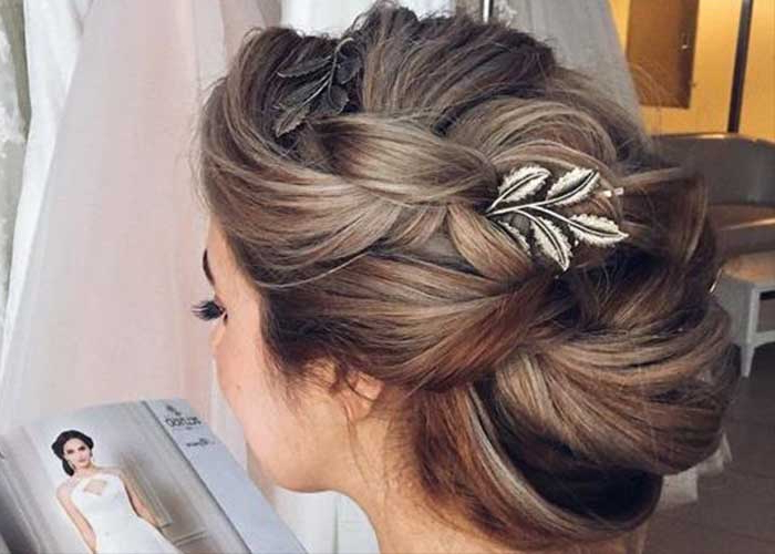 39 Amazing Wedding Updos – Hairstyle On Point Inside Teased Fishtail Bun Updo Hairstyles (View 15 of 25)
