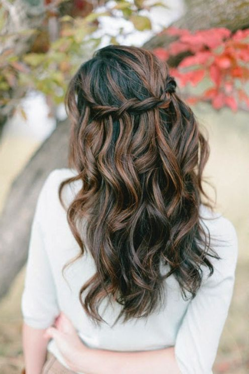 39 Half Up Half Down Hairstyles To Make You Look Perfect For Curled Half Up Hairstyles (View 8 of 25)