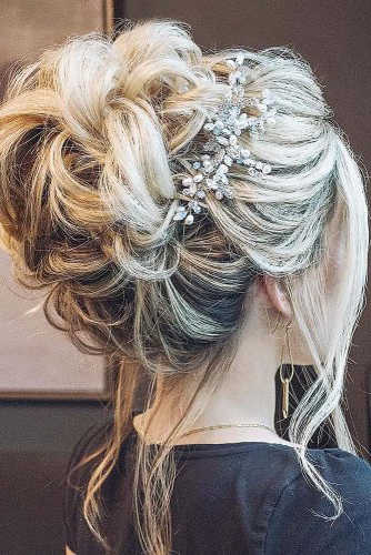 39 Wedding Updos That You Will Love | Wedding Forward Inside High Volume Donut Bun Updo Hairstyles (View 6 of 25)