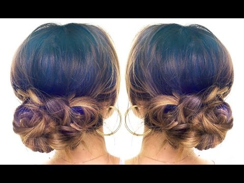 4 Minute Elegant Bun Hair Tutorial ? Easy Updo Hairstyles | Hair Tutorial Within Blinged Out Bun Updo Hairstyles (View 17 of 25)