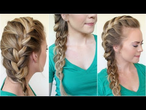 4 Ways To Side Braid Hair - Wikihow in Latest Side Swept Carousel Braided Hairstyles