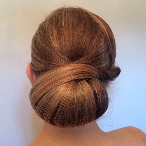 40 Chic Chignon Buns That Bring The Class Into Formal And With Newest Braided Chignon Bun Hairstyles (View 9 of 25)