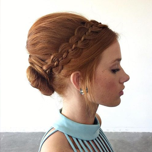 40 Cute And Comfortable Braided Headband Hairstyles Regarding Latest Braids And Bouffant Hairstyles (View 3 of 25)