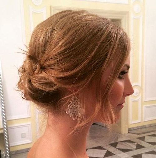 40 Quick And Easy Short Hair Buns To Try in Swirl Bun Updo Hairstyles