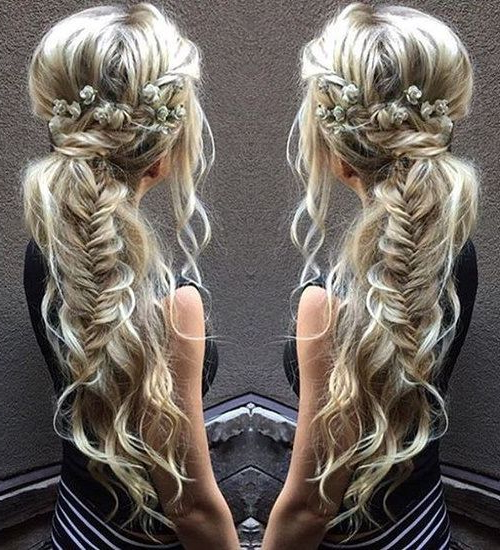 40 Side Ponytails That You Will Love | Bohemian Hair And regarding Most Current Fishtail Braid Pontyail Hairstyles