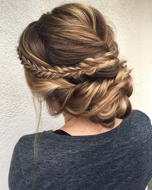 41 Beautiful Braided Updo Ideas For 2019 | Stayglam Pertaining To Multi Braid Updo Hairstyles (View 10 of 25)