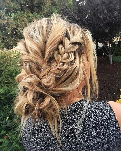 41 Beautiful Braided Updo Ideas For 2019 | Stayglam Within Multi Braid Updo Hairstyles (View 6 of 25)