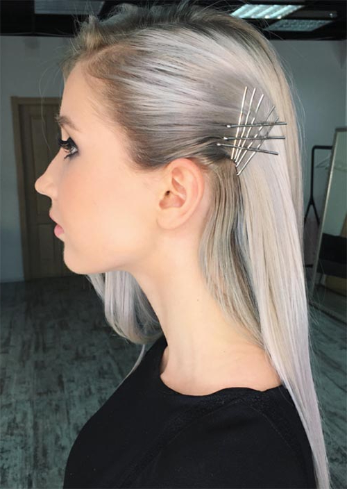 41 Exposed Bobby Pin Hairstyles: How To Use Bobby Pins – Glowsly Throughout Pinned Back Side Hairstyles (View 24 of 25)